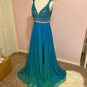 Mac Duggal Empire Waist Gown